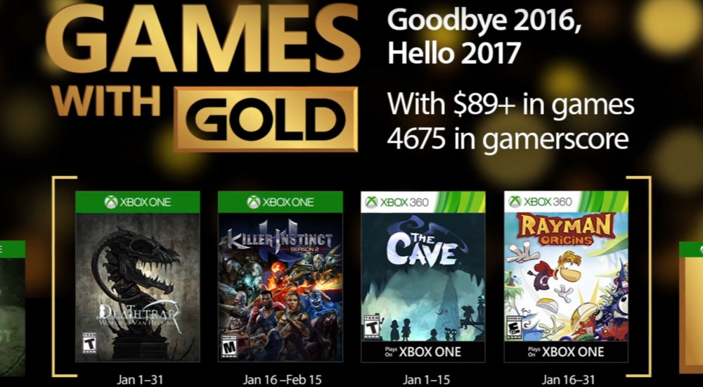Xbox announces free Games with Gold for January 2017