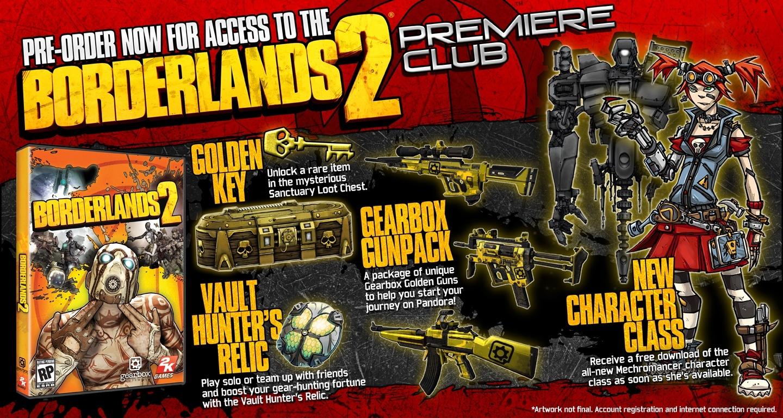 Можно заказать стандартные коробочные издания Borderlands 2 для PC,