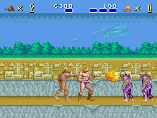 Altered Beast PC Engine first stage