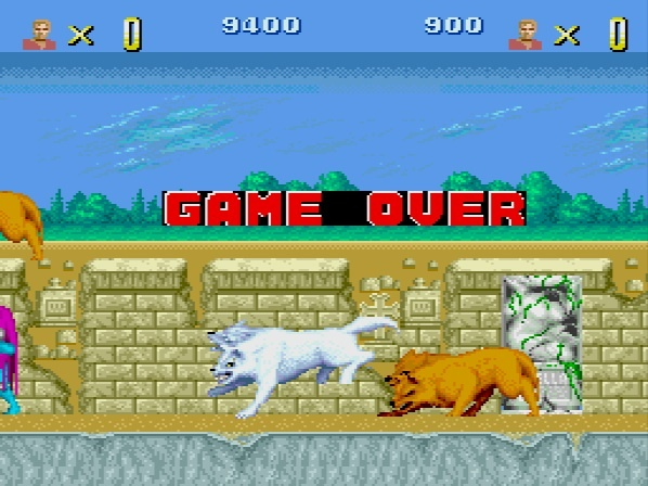 Altered Beast PC Engine Game Over