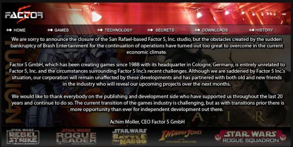 Co-Optimus - News - All Hope for an HD Rogue Squadron Dashed