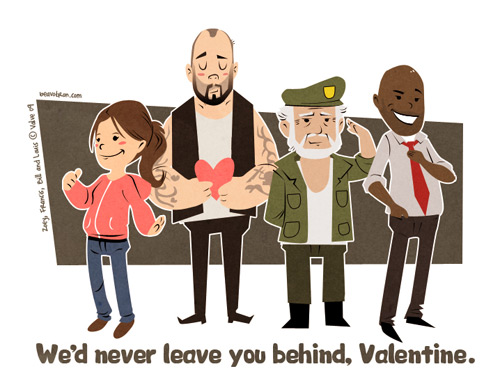 Co-Optimus - News - Left 4 Dead Valentines Characters are Too Cute