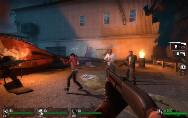 how to start a versus game left for dead