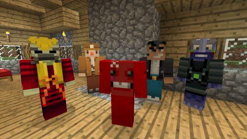 CoOptimus News New Images Of Minecrafts Skin Pack DLC - Skins minecraft para la 1 8