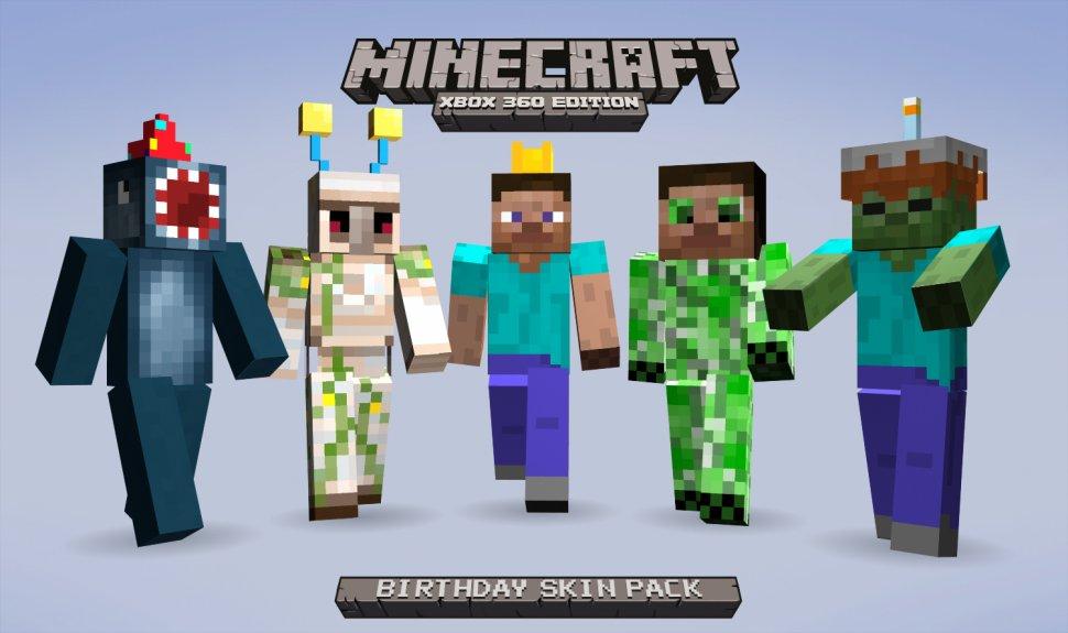 Celebrate Minecraft  Xbox 360 Edition s First Birthday with Free SkinsXbox 360 Minecraft Skins