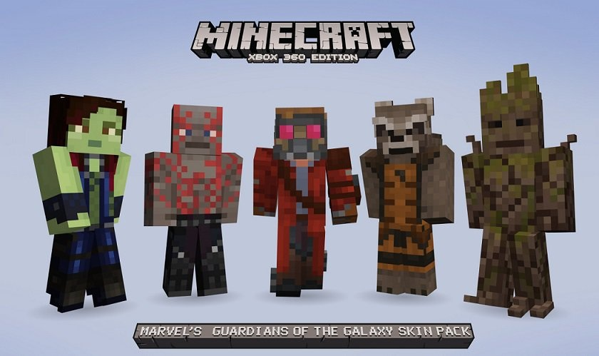 Co optimus news you are groot with the new minecraft 360 skin pack