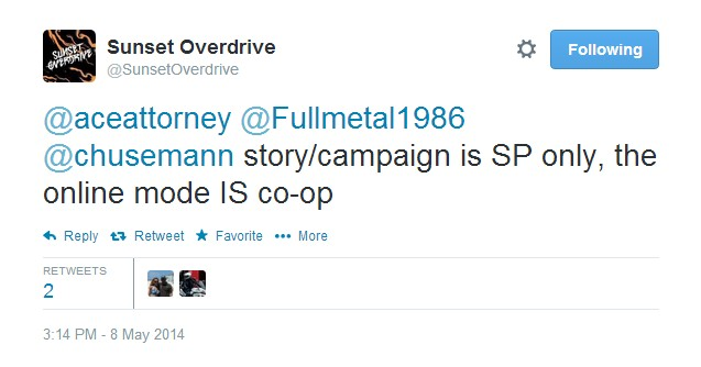 Co Optimus Video Sunset Overdrive Will Feature Online