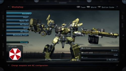 Armored Core V Workshop