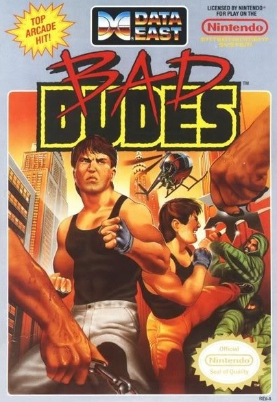 Bad Dudes NES box