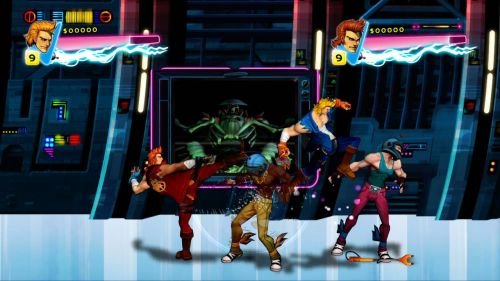 Double Dragon: Neon sci-fi stage