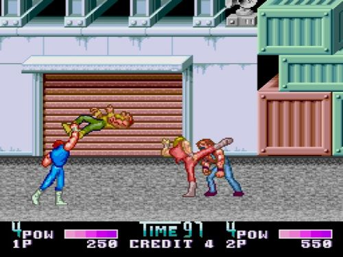 Double Dragon II PC Engine Mission 1