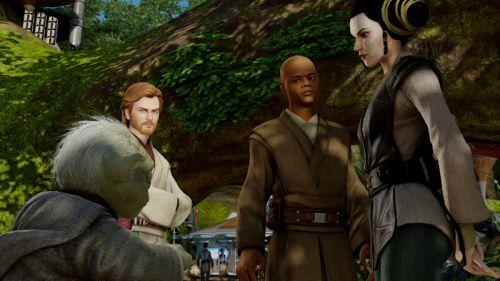Kinect Star Wars Yoda Mace Obi Wan