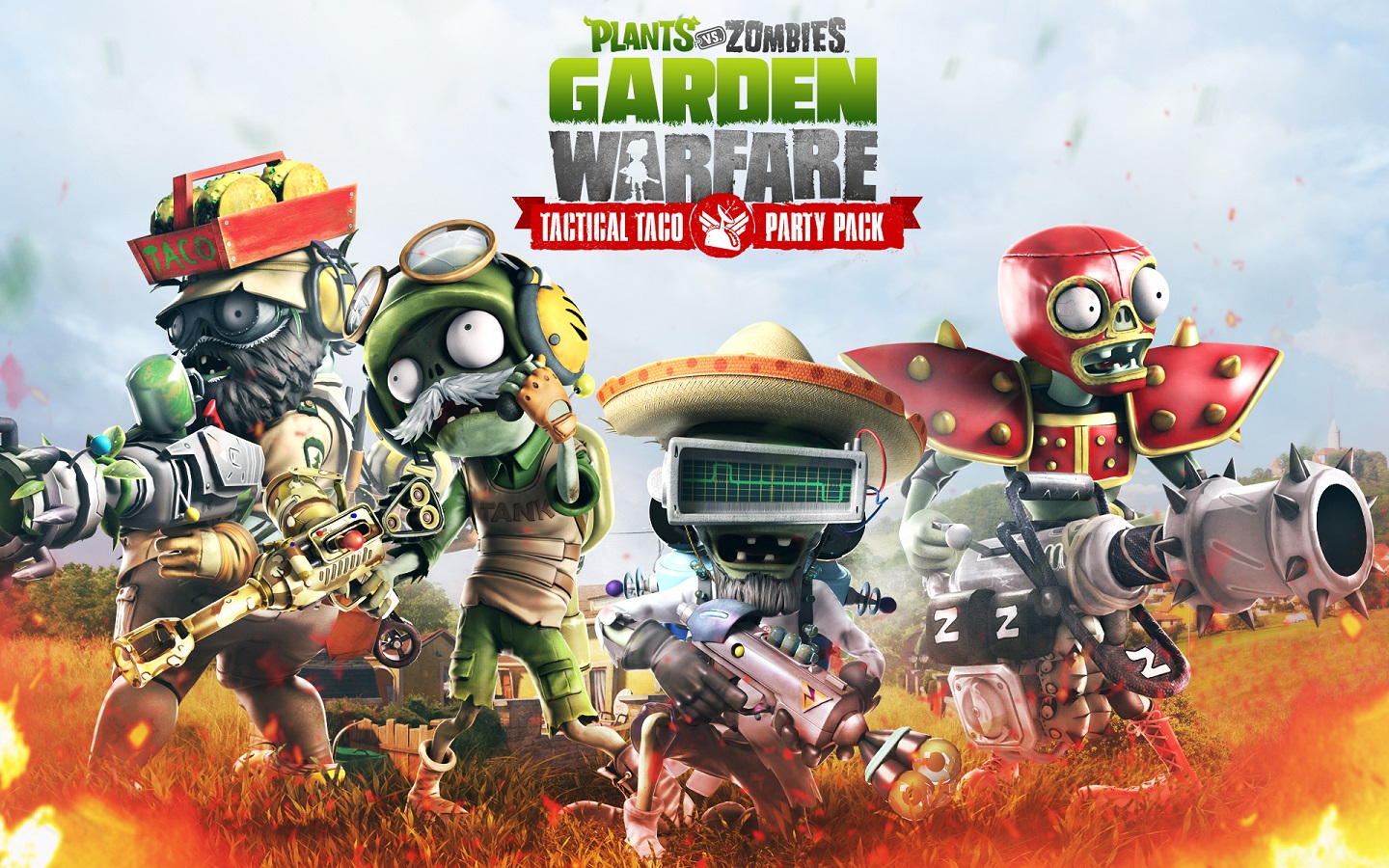 Co optimus screens garden warfare 39 s 39 tactical taco - Plants vs zombies garden warfare xbox one ...