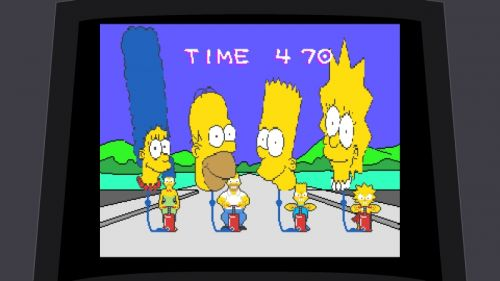 Simpsons Arcade Bonus Level
