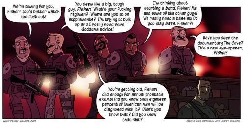 Penny Arcade Splinter Cell comic