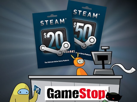steam gift card gamestop online