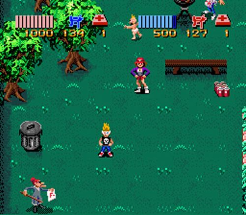 Image result for zombies ate my neighbors snes