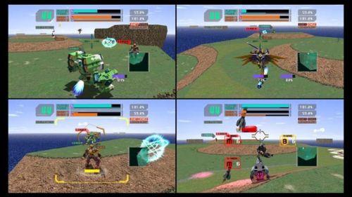 Virtual-On Force split-screen
